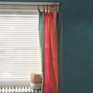 Pottery Barn Teen // Pair of Silk Stripe Curtains